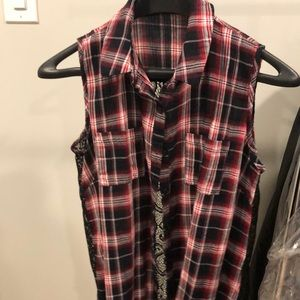 Flannel and lace shirt